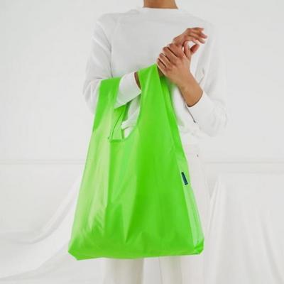 [바쿠백] 휴대용 장바구니 접이식 시장가방 Neon Green