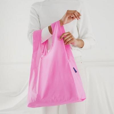 [바쿠백] 휴대용 장바구니 접이식 시장가방 Bright Pink