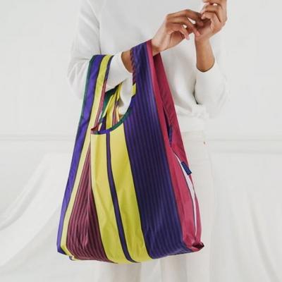 [바쿠백] 휴대용 장바구니 접이식 시장가방 Scarf Stripe
