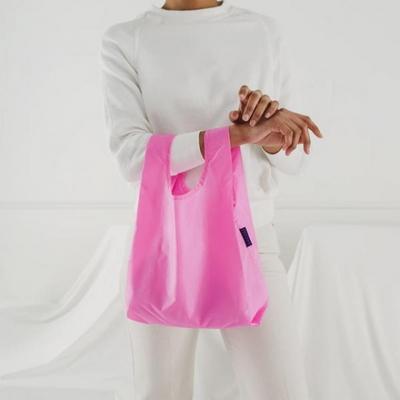 [바쿠백] 소형 베이비 에코백 장바구니 Bright Pink