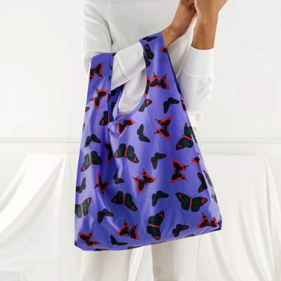 [바쿠백] 휴대용 장바구니 접이식 시장가방 Butterfly