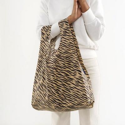 [바쿠백] 휴대용 장바구니 접이식 시장가방 Tiger Stripe