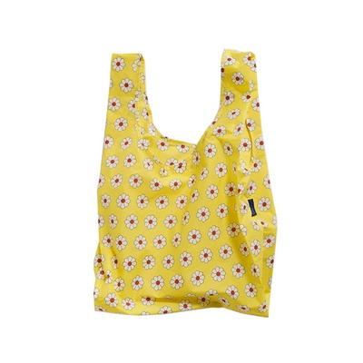 [바쿠백] 휴대용 장바구니 접이식 시장가방 Yellow Daisy