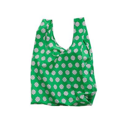 [바쿠백] 휴대용 장바구니 접이식 시장가방 Green Daisy