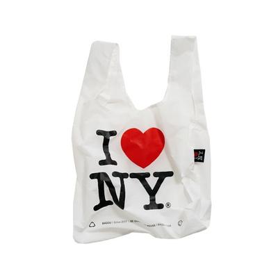[바쿠백] 휴대용 장바구니 접이식 시장가방 I Iove NY