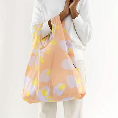 [바쿠백] 휴대용 장바구니 접이식 시장가방 Tie Dye Lavender