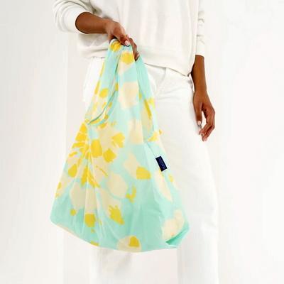 [바쿠백] 휴대용 장바구니 접이식 시장가방 Tie Dye Aqua