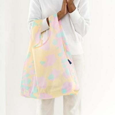[바쿠백] 휴대용 장바구니 접이식 시장가방 Tie Dye Pink