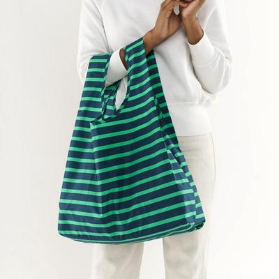 [바쿠백] 휴대용 장바구니 접이식 시장가방 Aloe Sailor Stripe