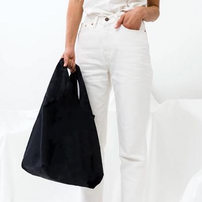 [바쿠백] 휴대용 장바구니 접이식 시장가방 Black
