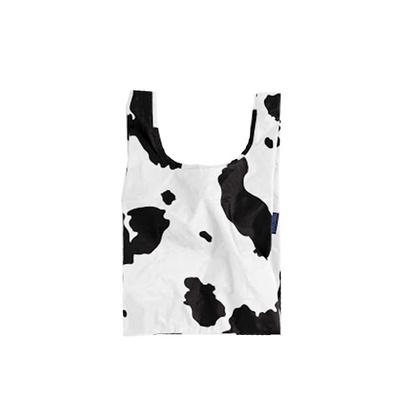 [바쿠백] 소형 베이비 에코백 장바구니 Cow Black And White
