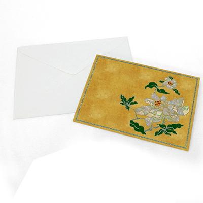 모란 자개카드 (황)