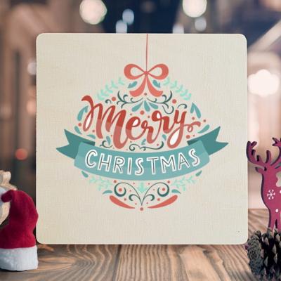 우드크리스마스카드 성탄카드 이색카드 wcc3-058