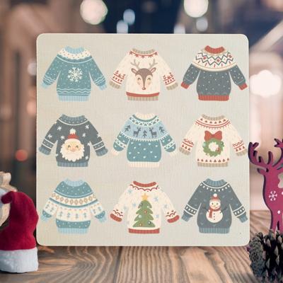 우드크리스마스카드 성탄카드 이색카드 wcc3-060
