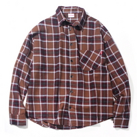OVERFIT MODERN CHECK SHIRT BROWN