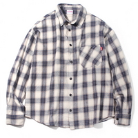 OVERFIT PLAID CHECK SHIRT IVORY