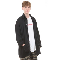 OVERSIZE KACHION COAT SHIRT BLACK