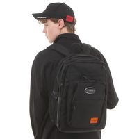 CIRCLE LOGO MULTI POCKET BACKPACK BLACK