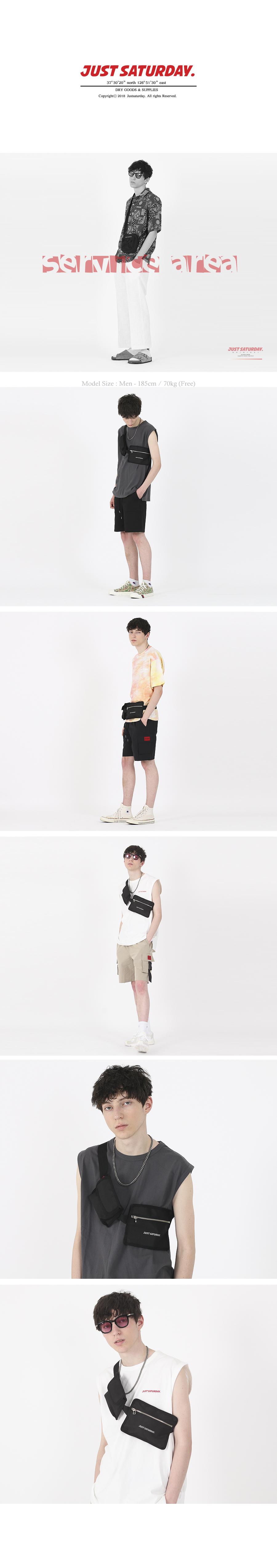 OG BELT WAIST BAG BLACK - 저스트세러데이, 29,000원, 힙색, 패브릭힙색