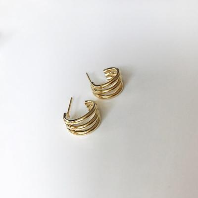 티타늄침 3 circles earring