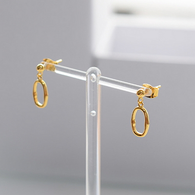 925 silver Ugly Round earring (2 color)