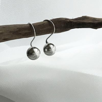 925 silver Ball earrings Haze 2 size