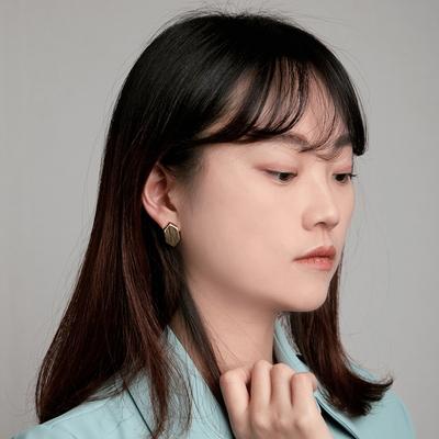 티타늄침 모던 심플 귀걸이 nuance