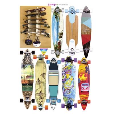 서핑보드 롱보드 데코 스티커