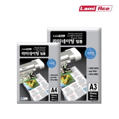 라미에이스 코팅필름 A4 A3 (20매 100매) SET 코팅지