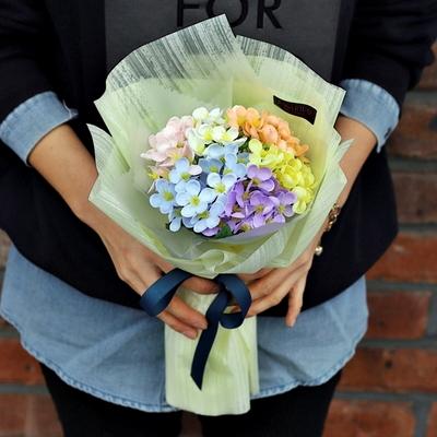 파스텔 수국 비누 꽃다발