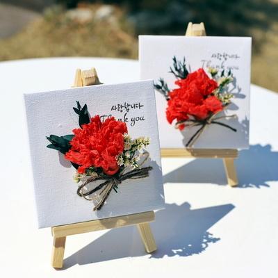 카네이션 캔버스 액자 - 어버이날 선물 (용돈봉투 포함)
