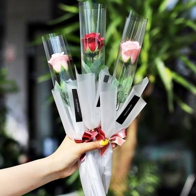 한송이 장미 비누 졸업식 꽃다발