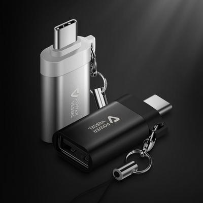 파워베슬 스트랩 C타입 USB3.0 OTG 젠더 컨버터 블랙