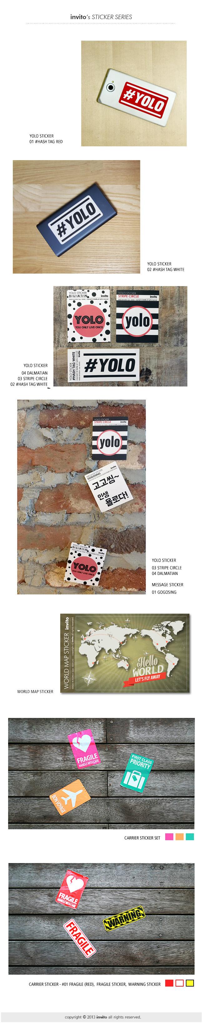 세계 국기 스티커 World Flags Sticker - 인비토, 1,000원, 보호커버/스티커, 스티커