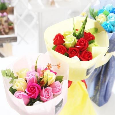 장미 10송이 꽃다발 부부의날 로즈데이 성년의날
