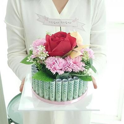 플라워케익 용돈박스(30) 어버이날 카네이션 비누꽃