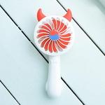 LED 데빌 핸디선풍기(화이트) 미니선풍기 저소음