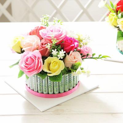 로즈플라워케익 용돈박스(30) 핑크 어버이날 생신선물