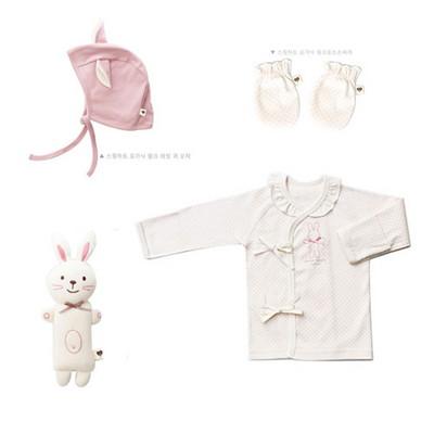 오가닉 핑크래빗 신생아 선물세트