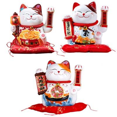움직이는 고양이_일본고양이인형 마네키네코 손흔드는고양이