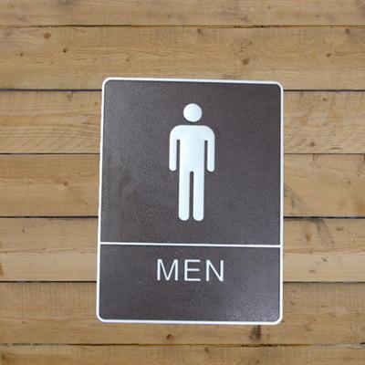 화장실 도어사인
