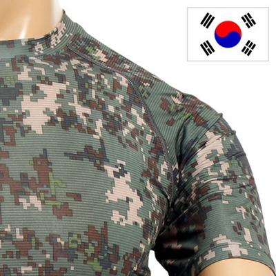 밀리터리 군용 래쉬가드 디지털  반팔티셔츠