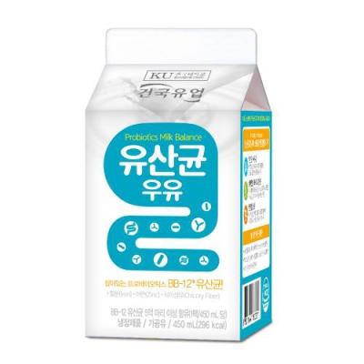 건국우유 가정배달 건국 유산균 우유 450ml (주4회/4주)