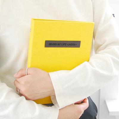 [업그레이드]프리미엄 이니셜 임신다이어리/태교일기-옐로우(바인딩)