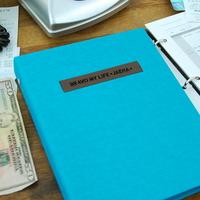 현명한 소비 가치있는 기록 제이로그 캐쉬북 머니플래너 바인더-민트