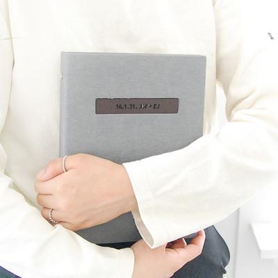 프리미엄 이니셜 임신다이어리 태교일기-그레이(바인딩)