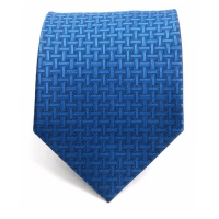 GENTLEANT 블루 격자무늬 수동넥타이