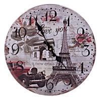 엔틱 러브유 빈티지 우드워치 벽시계 인테리어시계