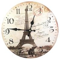 로멘틱 파리 빈티지 우드워치 벽시계 인테리어시계