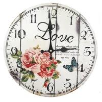 엔틱 로즈 빈티지 우드워치 벽시계 인테리어시계